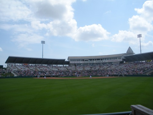 A beautiful picture of Hammond Stadium during Spring Training!