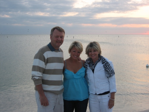 My parents and I on Bonita Beach!
